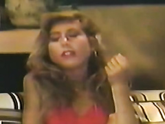 Luscious golden-haired acquires her shaggy cunt fingered in retro lesbo scene
