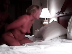 Blonde wench enjoys having my monstercock in her bawdy cleft