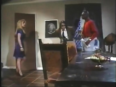 Blonde secretary receives nasty with 2 males in interracial movie
