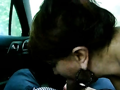A stunning blowjob in a car from my naughty fuckbuddy