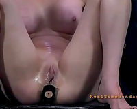 Two lusty thrall cuties obey their dominant-bitch and take up with the tongue every other's muffs