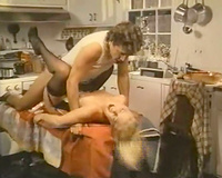 Gorgeous golden-haired BBC slut in hardcore sex scene in the kitchen