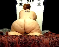 SSBBW older white housewife sits on top of me