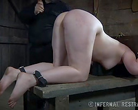 Three salacious strumpets receive brutally punished by their master