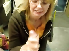 Mature golden-haired colleague gives me valuable tugjob at work