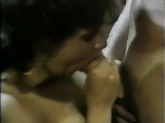 Impossibly hot 3-some with busty hotties fighting for one pleasing cock