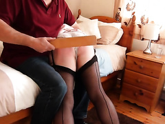 Breathtaking homemade episode scene with me getting spanked by my hubby