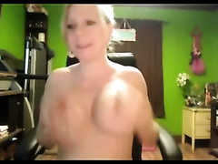 Breasty preggy golden-haired smashes her cum-aperture with a toy during a web camera show
