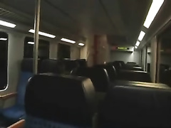 I screwed my Swiss babe and gave her facial in public bus