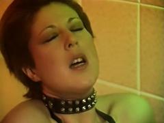 Hawt mistresses in latex underware finger copulates her boyfriend's arse