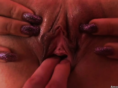 Whorish juvenile white playgirl getting rammed on POV tape