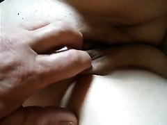 My chunky older white bitch allows me to play with her mangos and shaved snatch