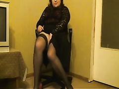 Cute big beautiful woman webcam hotwife strips exposing her curves in corset