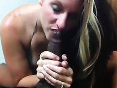 Awesome POV with my hot black cock sluts engulfing my dark rod