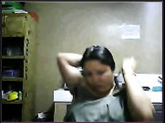 Filipina plump brunette hair woman on livecam str8 out of shower