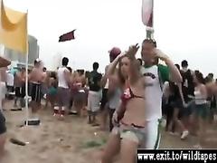Bikini harlots out of control in public