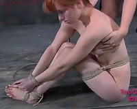 Filthy redhead receives her moist bawdy cleft toyed like not ever previous to