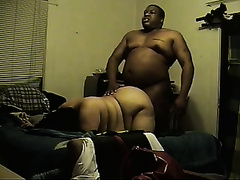Mexican big beautiful woman enjoys interracial doggy position sex with me