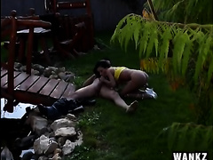 Super inviting black-haired besom acquires bonked outdoors