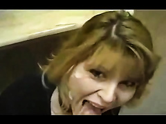 Blonde secretary oral-sex and facial movie with her recent BF