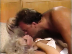Extravagant golden-haired MILF gets eaten and fucked missionary style