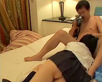 Asian doxy blows and acquires screwed in hawt CFNM scene