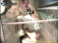 Lesbian enjoyment in shower with two naughty Russian girlfriends