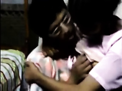 Indian guy makes out with a maid and licks her natural milk cans