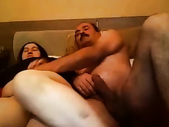 My Turkish black cock slut lets me finger and fuck her rock hard fur pie