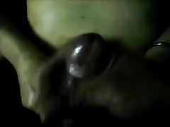 Chubby bosomy Indian slutty wife jizzed a large load of cum on her stomach