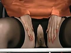 Mature dirty slut wife with large gazoo plays a lewd hawt secretary