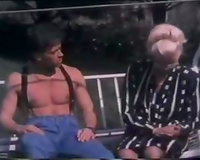 Horny aged woman seduces young dude living nextdoor