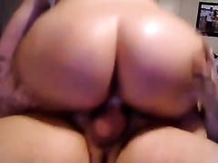 Insane white corpulent a-hole riding on my white ramrod on webcam