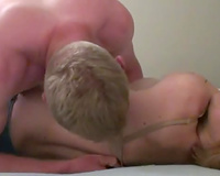 Cute tattooed dilettante amateur wife receives her muff licked to agonorgasmos