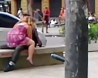 My Brazilian GF and I love doing wicked things in public