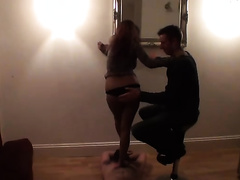 Homemade cuckold episode with my BBC slut dancing for a stranger