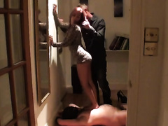 Homemade cuckold episode with my BBC slut dancing for a stranger