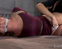Cute thrall BBC slut with hot body is abased by her breathtaking femdom-goddess