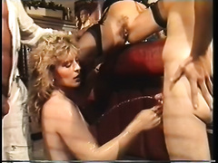 Retro porn compilation with foursome and FFM three-some actions