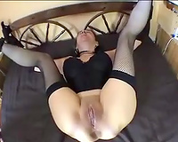Anal sex with my tied dilettante white white bitch in the bedroom