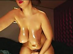 Oily Bubble Butt solo dirty slut wife Sandy