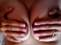 Awesome tits of my older dilettante white bitch filmed closeup