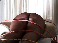 I love to spank biggest a-hole of my obedient bounded wench