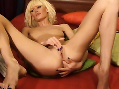 Solo movie with my slender ex GF fingering her vagina and rectal hole