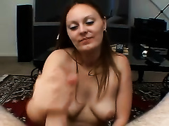 Cock paramour playgirl acquires it unfathomable face hole and swallows the cum jizzed in her throat