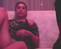 Shy Turkish girlfriend shows off her love muffins and hot feet on camera
