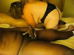 Cuckold pleasures - SBBW girl sucks giant BBC in front of me