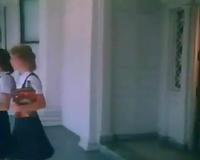 Teenage cutie blows her teacher's hard schlong after classes
