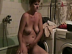 My old wifey with saggy whoppers just loves masturbating in front of me