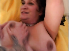 Potbellied older hoe gets her curly bawdy cleft gangbanged unfathomable